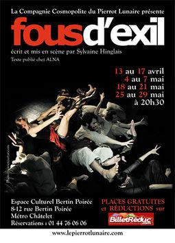 Affiche du spectacle: Fous d'exil.